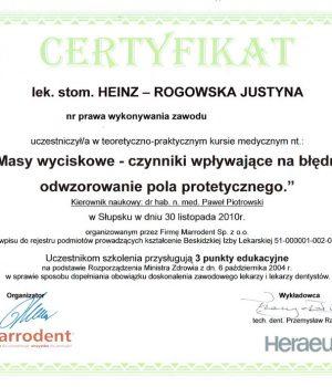HinzRogowska-Cerfyfikat-nr-1